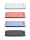 Set of packings for chocolate of different color Royalty Free Stock Image