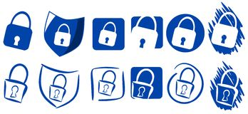 Set of Padlock icons isoolated Royalty Free Stock Photo