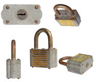 Set padlock isolated on white background Stock Photo