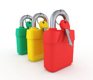 Set of padlocks Royalty Free Stock Images