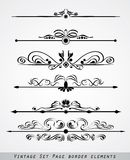 Set of page border ornament stock photos
