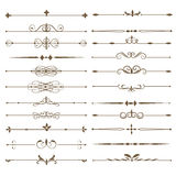 Set page dividers. Antique decorative elements. Stock Photos