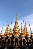 Set of Pagodas. Set of Golden Pagodas Royalty Free Stock Image