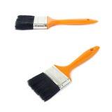 Set of Paint brush over isolated white background Stock Image