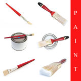 Set of paint brushes Royalty Free Stock Images