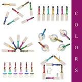 Set of paint brushes Royalty Free Stock Photos