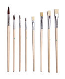 Set of paint brushes Stock Image