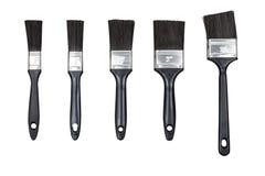 Set paint brushes isolated on white Stock Images