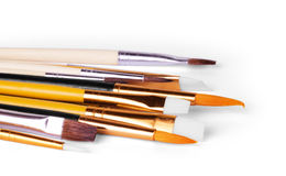 Set of paint brushes isolated on the white background Royalty Free Stock Photo