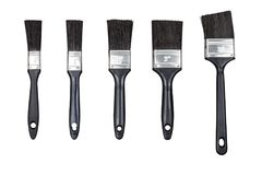 Set paint brushes isolated on white Stock Images