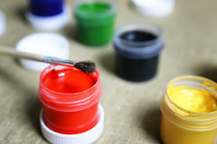 Set of paint cans Stock Image