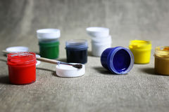 Set of paint cans Royalty Free Stock Photo