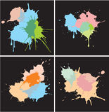 Set of Paint Splat Dots Royalty Free Stock Photos