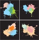 Set of Paint Splat Dots. Including Vector Format stock illustration