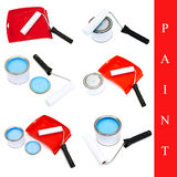 Set of paint tools Stock Images