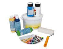 Set of paint tools Royalty Free Stock Photo