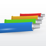Set of paint tubes Royalty Free Stock Photography