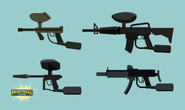 Set paintball guns Stock Photography