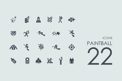 Set of paintball icons Royalty Free Stock Photography