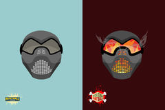 Set  paintball mask. Stock Photography