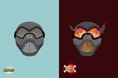 Set  paintball mask. Stock Photography