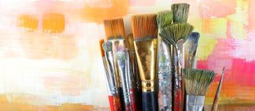 Set paintbrush Royalty Free Stock Image