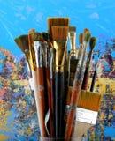 Set Paintbrush Stock Images