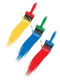 Set of paintbrushes Royalty Free Stock Image