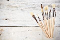 Set of paintbrushes Stock Photography
