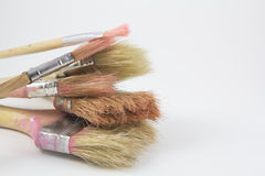 Set of paintbrushes for crafts Royalty Free Stock Image