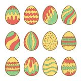 Set of painted easter eggs Royalty Free Stock Images