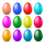 A set of painted Easter eggs Stock Photos