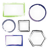 Set of painted frames Stock Photos