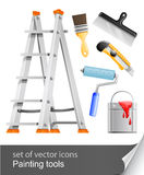 Set Painter Tools Royalty Free Stock Images