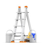 Set painter tools Royalty Free Stock Photography