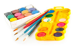Set for painting Stock Photos