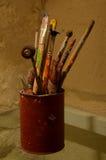 Set of painting brushes Stock Image