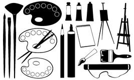Painting tools Royalty Free Stock Photos