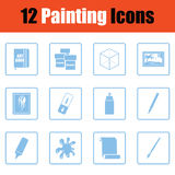 Set of painting icons Stock Image