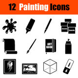 Set of painting icons Royalty Free Stock Photo