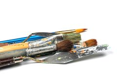 Set of painting tools stock photography
