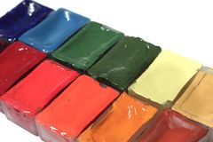 Set of paints Stock Photography