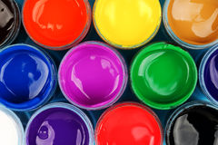 Set of paints. Set of colorful paints, top view for backgrounds Royalty Free Stock Image