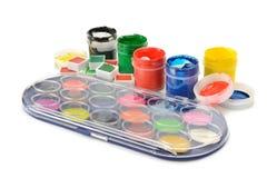 Set of paints Stock Photo