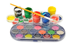 Set of paints Stock Photo