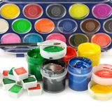 Set of paints Royalty Free Stock Image