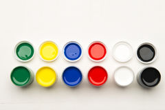 Set of paints on a white background Royalty Free Stock Images