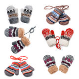 Set a pair of  baby mittens Royalty Free Stock Image