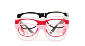 Set of pairs eyeglasses Stock Photos
