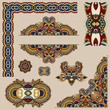 Set of paisley floral design elements for page Royalty Free Stock Photography